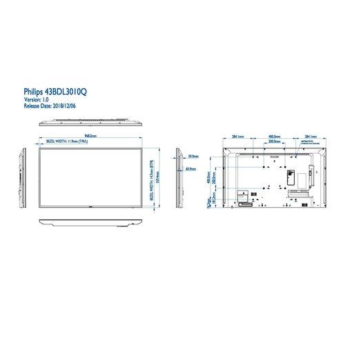 Philips MMD 43BDL3010Q/00  43  inch Basic Signage Q-line