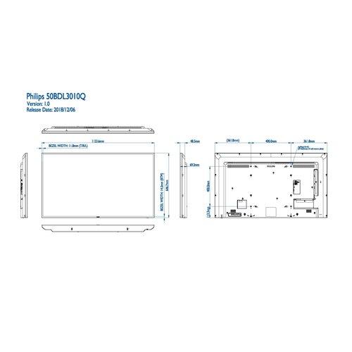 Philips MMD 50BDL3010Q/00 50 inch Basic Signage Q-line