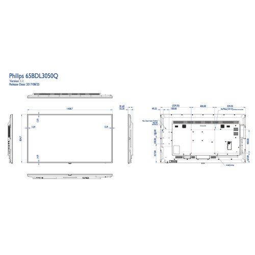 Philips MMD 65BDL3050Q/00 65 inch 4K Basic Signage Q-line, Android