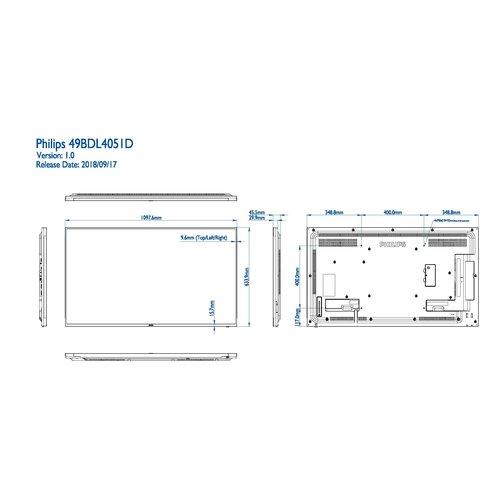 Philips MMD 49BDL4051D/00 49  inch  Basic Professional Signage,  24/7 scherm