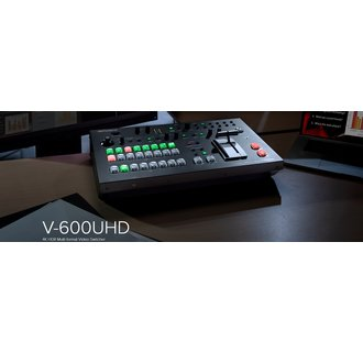Roland V-600UHD 4K HDR Multi-Format Video Switcher with SDI, HDMI I/O