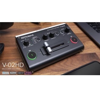 Roland V-02HD Multi-format Video Mixer, 2 HDMI Input, 2 HDMI Output