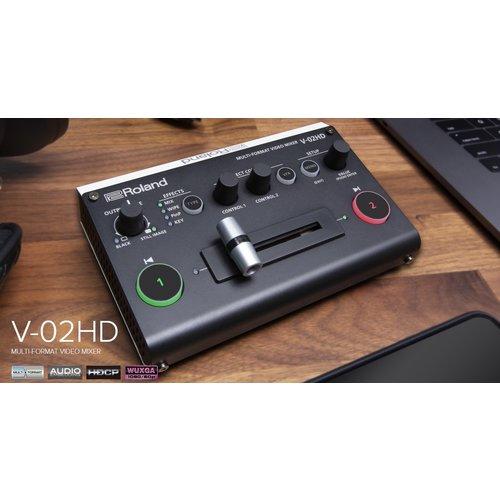 Roland AV Roland V-02HD Multi-format Video Mixer, 2 HDMI Input, 2 HDMI Output