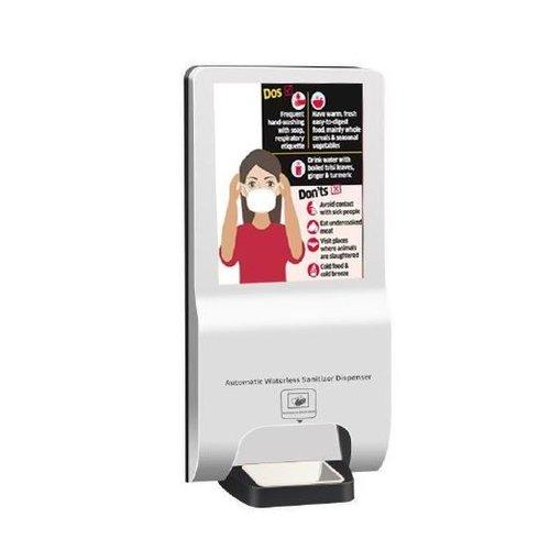 Totem met Automatische Dispenser 21.5 inch scherm
