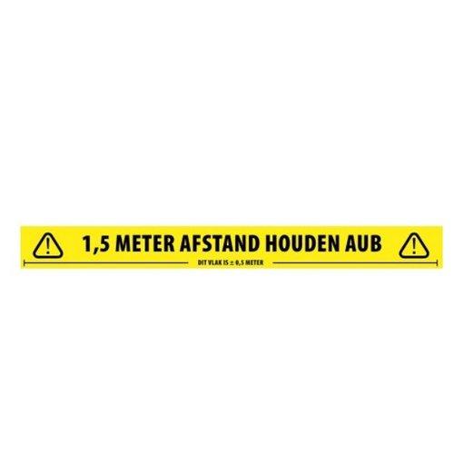 1.5m Vloertape Houd Afstand Nederlands