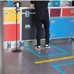 VIDIZO 1.5m Vloertape Houd Afstand Nederlands