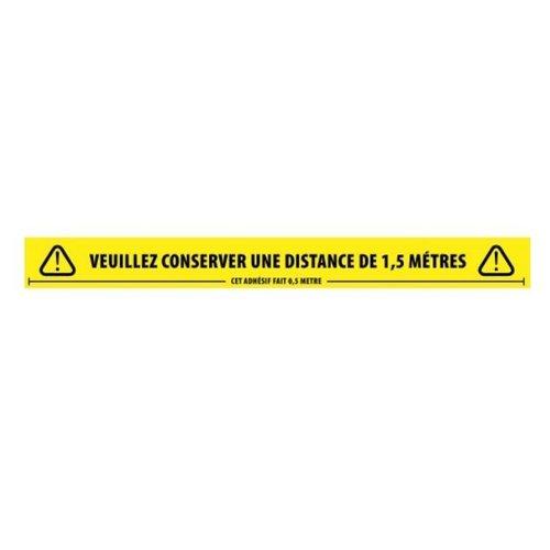 1.5m Vloertape Houd Afstand Frans