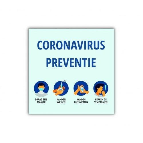 VIDIPRINT Raamsticker CORONAVIRUS PREVENTIE