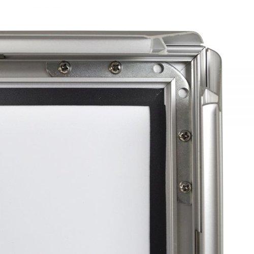VIDIPRINT Stoepbord Brussel zilver A0 – A1 – B1 formaat