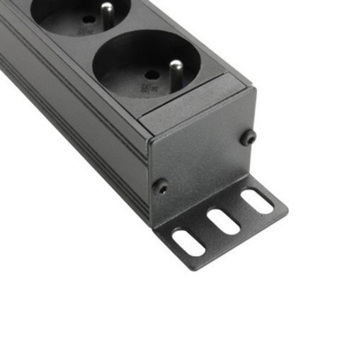 """Adam Hall Adam Hall 19"""" Parts 87478 19"""" 1U Mains Power Strip with 8 Sockets ( French Connectors )"""