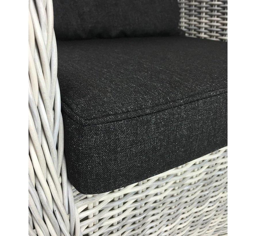 Riva White faded grey verstelbarer gartensessel