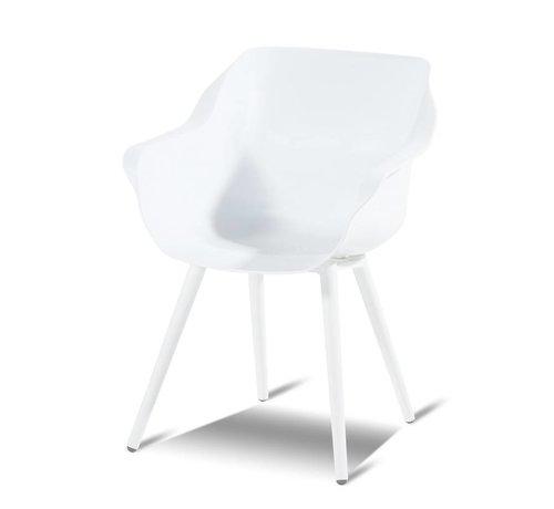 Hartman Hartman Sophie Studio Dining Gartenstühle | Weiß mit kegelförmige Beine
