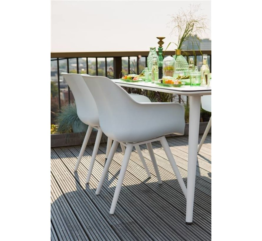 Sophie Studio tuinstoel Wit met conische poten