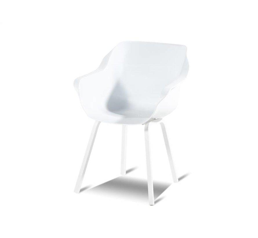 Hartman Sophie Element Dining Gartenstuhl aus Kunststoff mit Aluminiumgestell  | Weiß