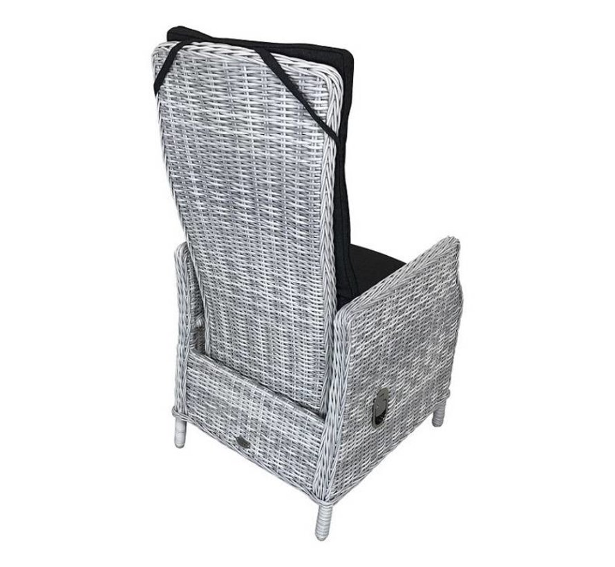 Victoria wicker tuinstoel White Faded Grey