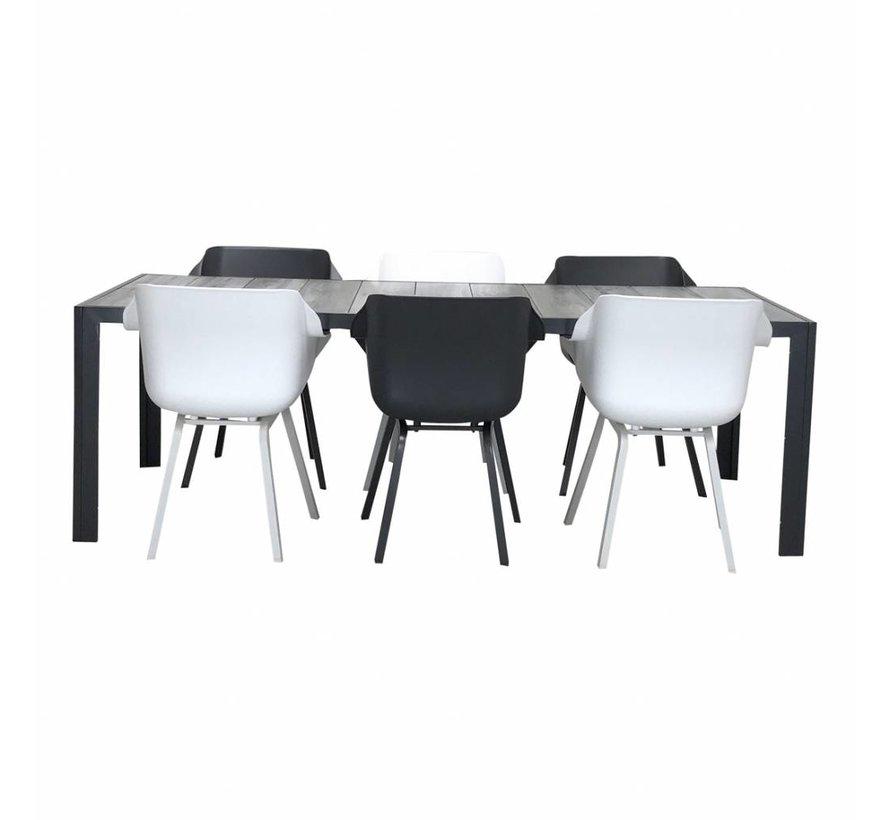 Hartman Sophie Xerix & Wit met Tanger tafel 230cm