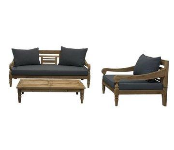 PAZOON Kawan XL loungeset 3-teilig