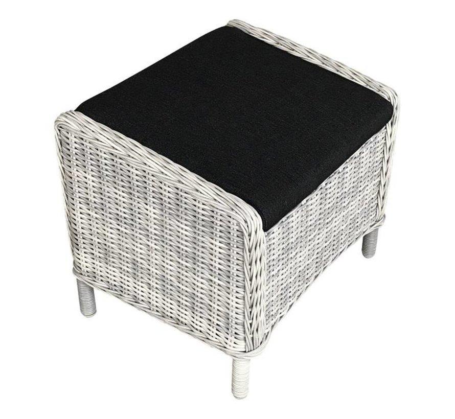 Reint Middel Riva Dining verstellbaren gartenstuhle mit Hocker   White Faded Grey
