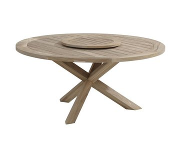 Taste by 4 Seasons outdoor Louvre teak tafel 160cm rond