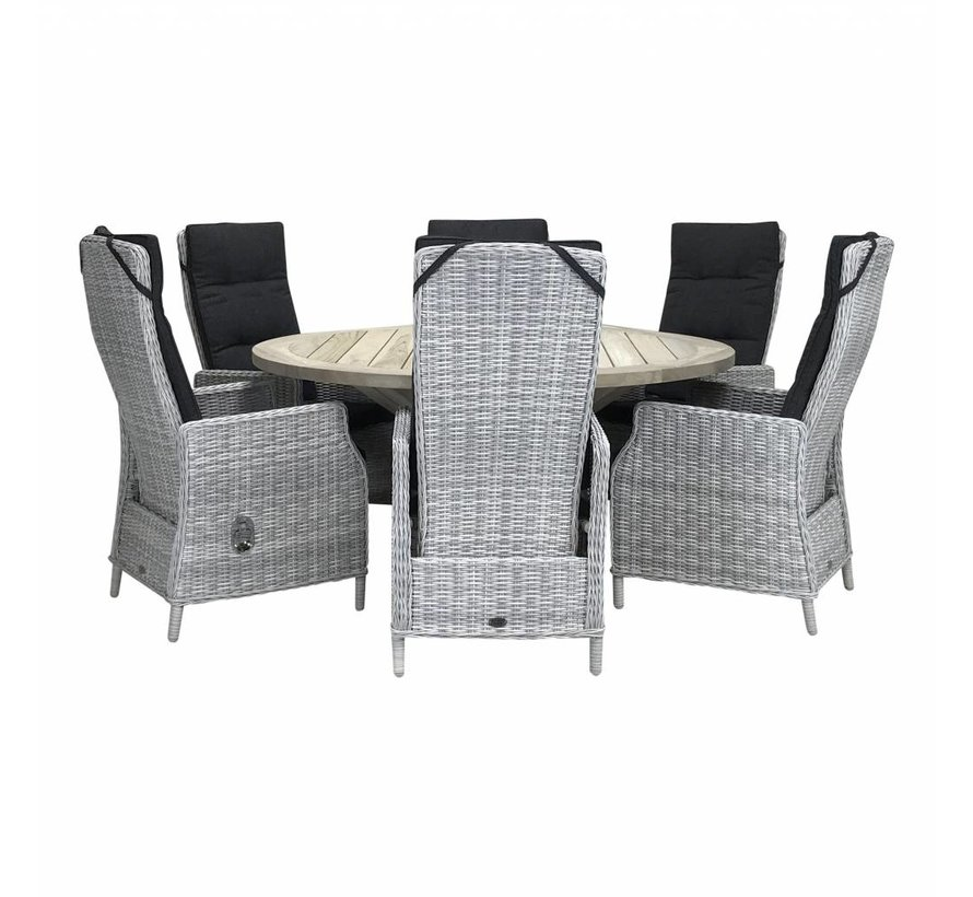 Victoria White Faded Grey / Hartman Tanger 230cm diningset - Copy - Copy