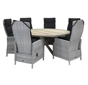Taste by 4 Seasons outdoor Victoria White Faded Grey / Louvre 160cm Ø