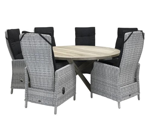 Taste by 4 Seasons outdoor Victoria White Faded Grey / Hartman Tanger 230cm diningset - Copy - Copy