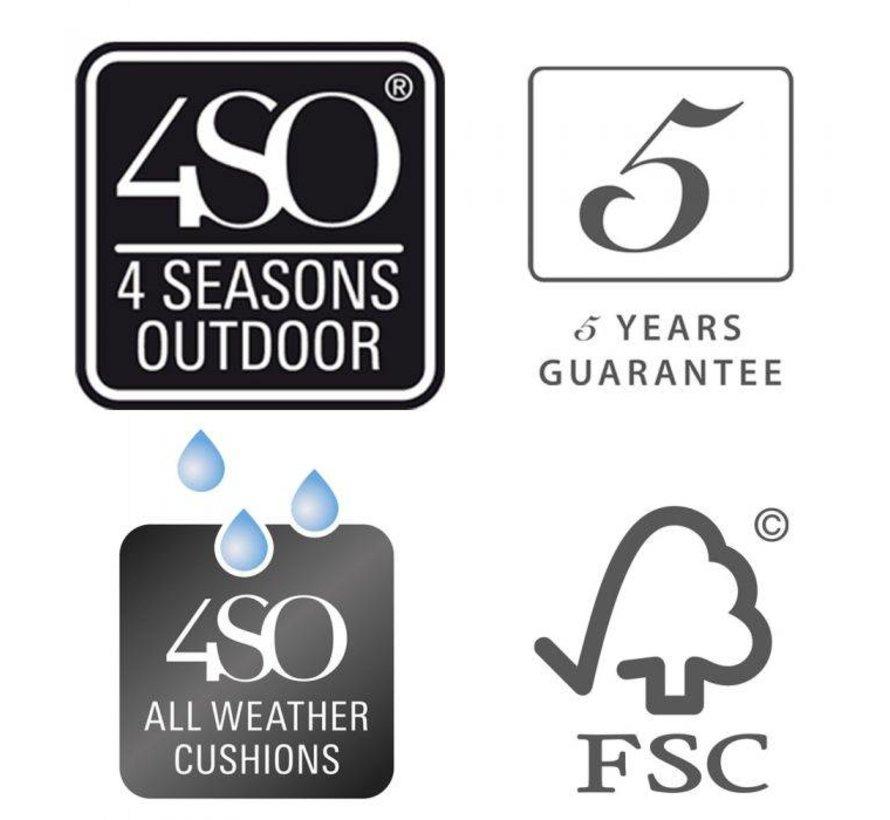 4 Seasons Outdoor Scandic tuinset met Taste by 4 Seasons Derby 130cm Ø tuintafel