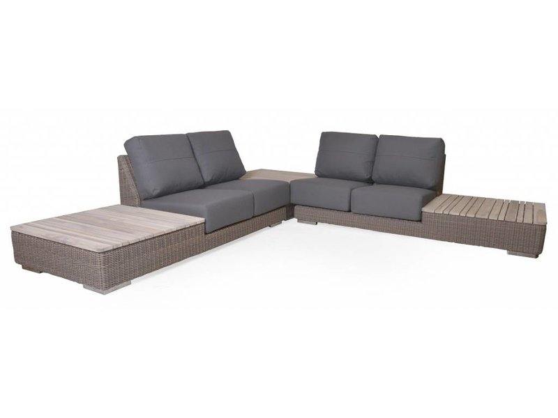 4 Seasons Outdoor Kingston II Loungeset 3-Delig met Teak