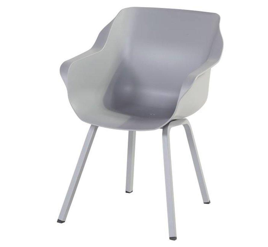 Hartman Sophie Element Dining Gartenstuhl aus Kunststoff mit Aluminiumgestell  | Misty Grey