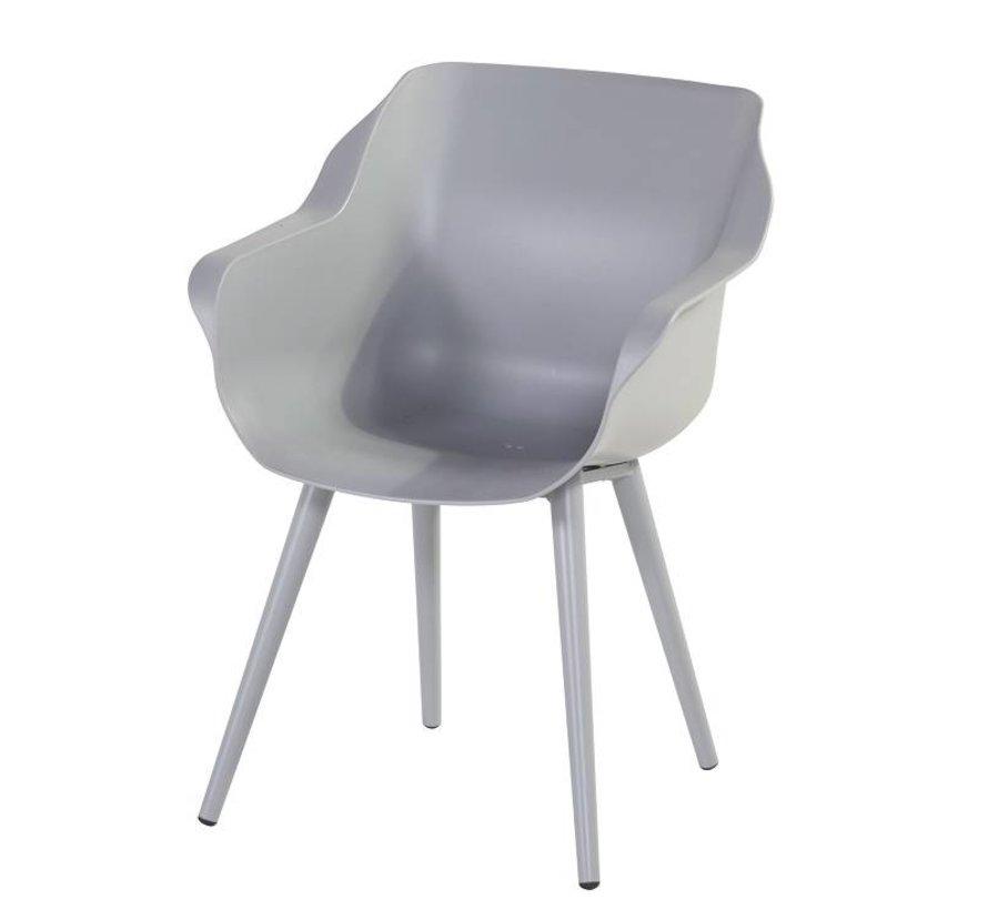 Hartman Sophie Studio Dining Gartenstühle   Misty Grey mit kegelförmige Beine
