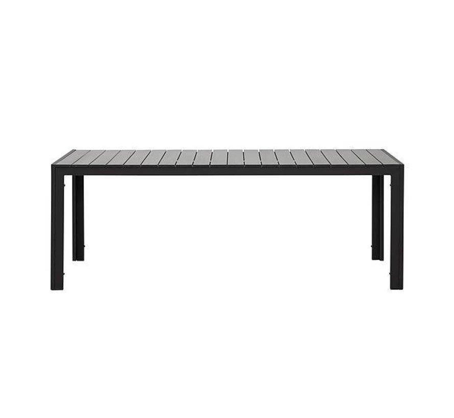 Jersey Gartentisch polywood grau 220cm
