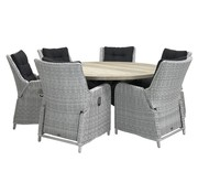 Taste by 4 Seasons outdoor Riva White Faded Grey - Louvre 160cm Ø