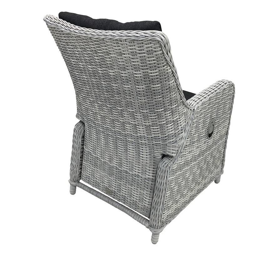 6x Riva White Faded Grey met  Taste by 4 Seasons Louvre 160cm tuinset