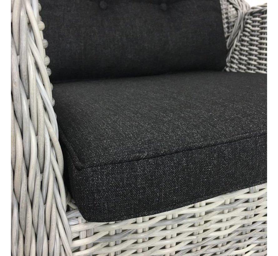 6x Riva White Faded Grau mit Taste by 4 Seasons Louvre 160cm Gartenmöbel set