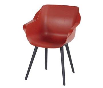 Hartman Sophie Studio Dining Gartenstühle | Rot mit Schwarz untergestell
