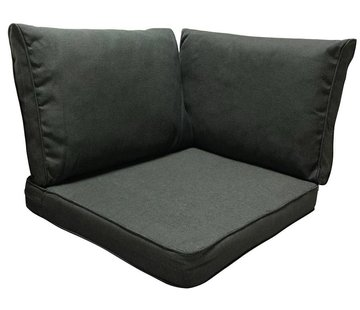 Madison Lounge  kussenset 3-Delig | Rib Zwart