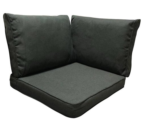 Madison 3-Delige Kussenset  voor in uw loungeset of tuinset Rib Black