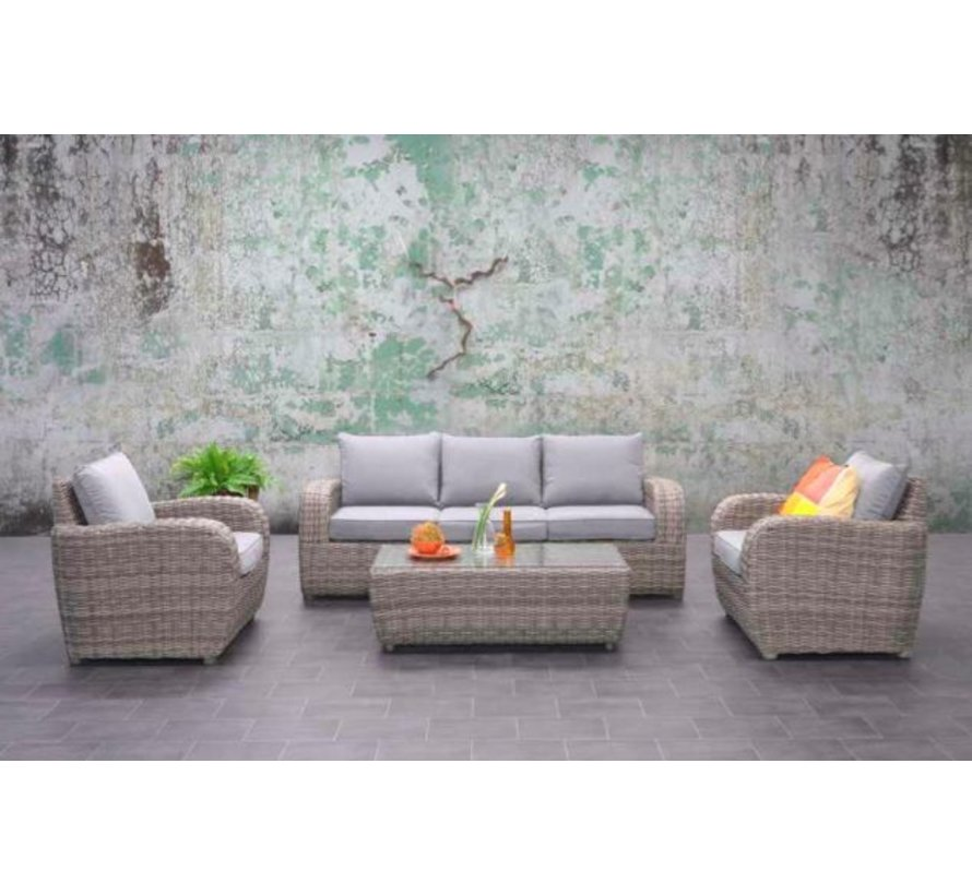Gartenmöbel-Set Cayenne Polyrattan 4-teilig