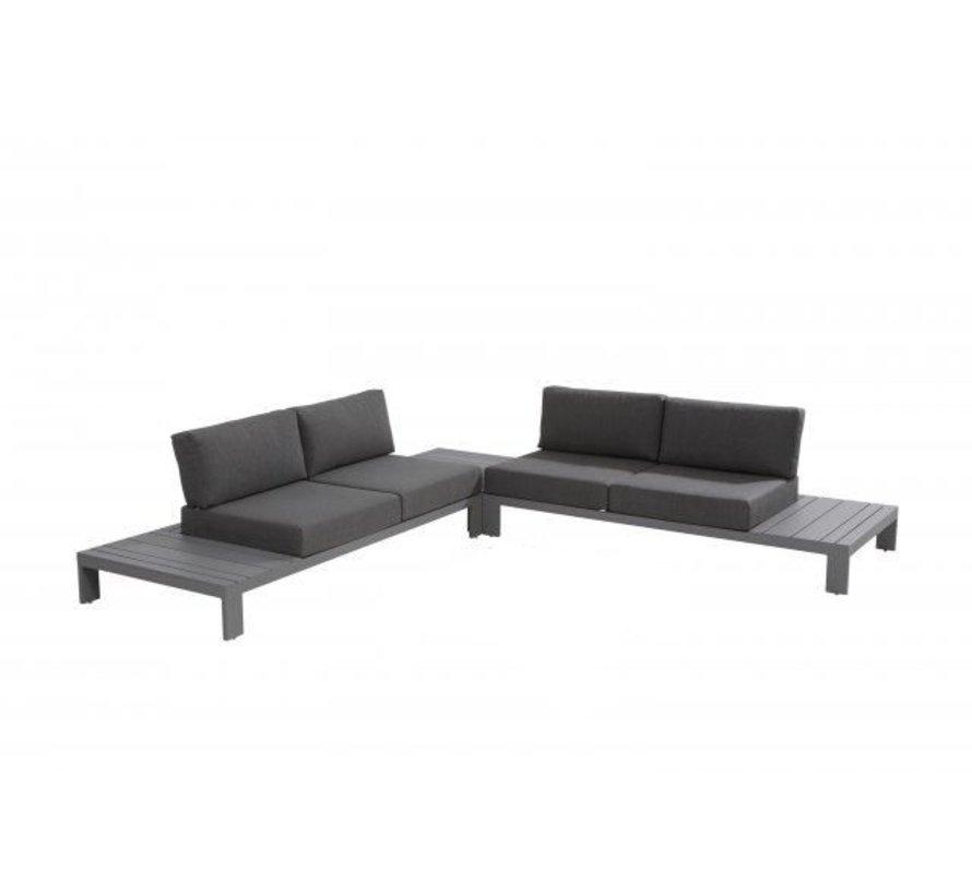 Ocean aluminium Platform loungeset 3-delig