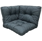 Madison Florance Rib Grey 3-Delige kussenset voor loungeset of tuinset