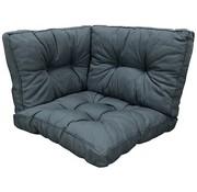 Madison Kissenset Rib Grau für Loungemöbel und Gartenmöbel
