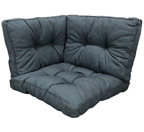 Madison Sitzkissen und Ruckenkissen für Loungemöbel und Garnitur Rib Grau