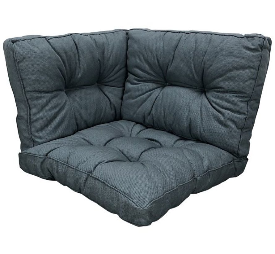 Sitzkissen und Ruckenkissen für Loungemöbel und Garnitur Rib Grau