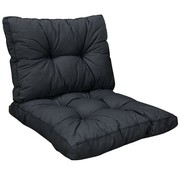 Madison Florance Basic Black 2-Delige kussenset voor loungeset of tuinset