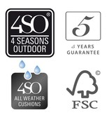 4 Seasons Outdoor Scandic Diningset 7-Delig met Derby  tuintafel 240cm x 100cm