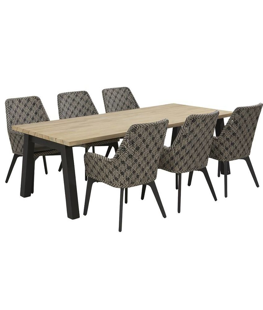 4 Seasons Outdoor Savoy diningset met Derby tafel