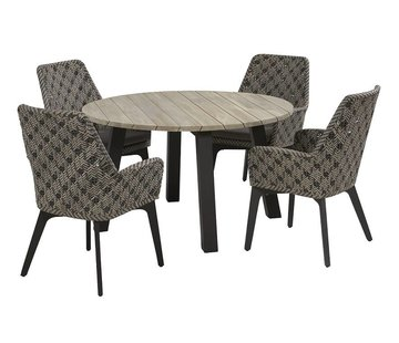 4 Seasons Outdoor Savoy diningset met Derby tafel rond