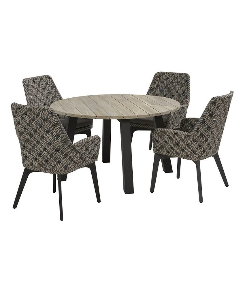 4 Seasons Outdoor Savoy diningset met Derby tafel rond