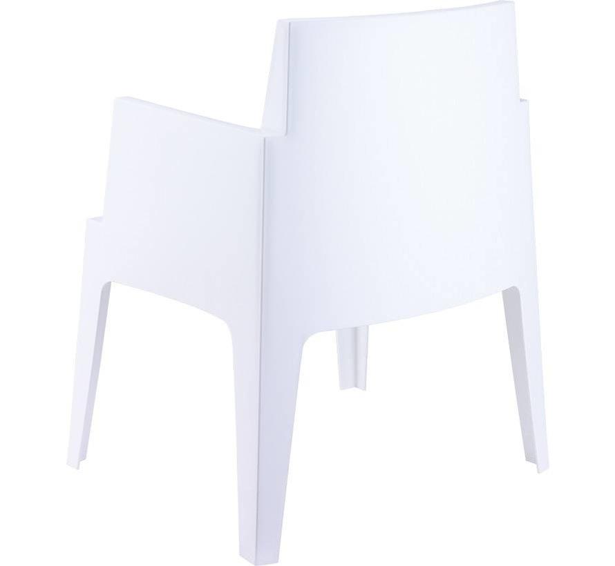 PAZOON Box Gartenstuhl Weiß