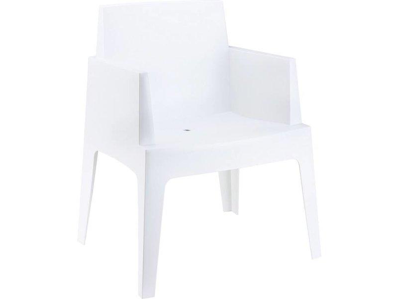 PAZOON Box armchair weiß mit Taste by 4 Seasons Louvre tisch 240cm